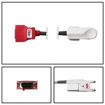Masimo SpO2 Adult Hard Shell Finger Sensor Red 3M 20 Pin Direct Connect Warranty - 2054