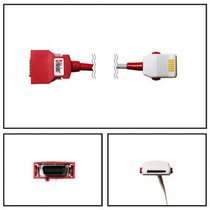 Masimo LNOP PC-08 Red 20 Pin SpO2 Extension Cable (10 ft) - 2059