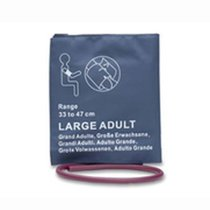 NiBP Large Adult Blood Pressure Cuff Bladder Single Hose Tube 33-47cm Warranty - NBXX3212