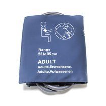NiBP Adult Blood Pressure Cuff Bladder Double Hose Tube 25-35CM New Yr Warranty - NBXX3224