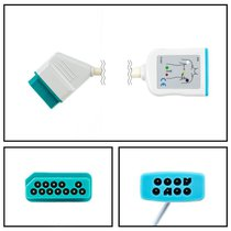 Nihon Kohden ECG Trunk Cable 12 Pin to 4 Lead Dual Pin 3/6 LD New Yr Warranty - NENK2042