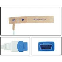 GE Datex-Ohmeda SpO2 Disposable Textile Adhesive Finger Sensor TruSignal 24 Pack - NHDX5680-TA