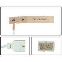 Nellcor Oxisensor II SpO2 Disposable Sensors DB9 Textile Adhesive 24 Pack New - NHNE5625-TA