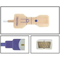Nellcor SpO2 Pediatric Disposable Textile Finger Sensor OxiMax DB9 9 Pin 24 Pack - NHNE5726-TA