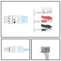 GE Datex-Ohmeda 3 Lead Dual ECG Leadwires - Grabber - NLDX3231