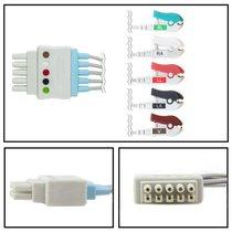 GE Datex-Ohmeda 5 Lead Dual ECG Leadwires - Grabber - NLDX5251
