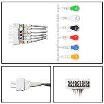GE 6 Lead Dual Apex ECG Telemetry Leadwires - Snap - NLGE6262-T