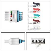 Mindray 5 Lead Dual ECG Leadwires - Grabber - NLMR5251
