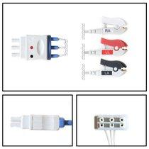 Philips 3 Lead Dual ECG Leadwires - Grabber - NLPH3231