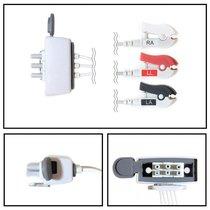 Philips 3 Lead Dual Tele Shielded ECG Leadwires - Grabber - NLPH3231-T