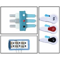 Philips Disposable 3 Lead Dual ECG Leadwires - Snap - NLPH3232-X