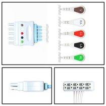 Philips 5 Lead ECG Leadwires Dual Wire Snap Lock Clips New Yr Warranty - NLPH5252