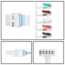 Siemens 5 Lead Dual ECG Leadwires - Grabber - NLSM5251