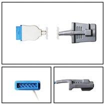 GE Marquette Adult Soft Shell SpO2 Sensor 10' Cable New Yr Warranty - NSMQ3045