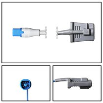 Philips M1191B SpO2 Adult Soft Shell Finger Sensor D-Connect 3' Cable Warranty - NSPH1020