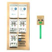 GE Apex Pro Telemetry Transmitter Membrane Switch LED Flex Board New Warranty - NTGE9130