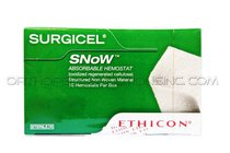 "Ethicon 2081 Surgicel Snow Absorbable Hemostat: 1"" x 2"" - Box of 10"