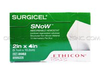 "Ethicon 2082 Surgicel Snow Absorbable Hemostat: 2"" x 4"" - Box of 10"