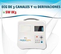 ECG DE 3 CANALES Y 12 DERIVACIONES