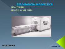 RESONANCIA MAGNETICA MCA TOSHIBA MOD OPART ULTRA