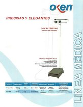 Báscula Médica Mecánica Profesional Peso y Talla 160Kgrs