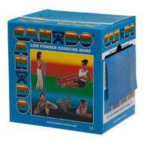 FEI-10-5224 Banda Elastica Cando para Ejercicios de Resistencia Pesada Color Azul 45.72 Mts