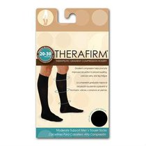 TH68317	CALCETIN THERAFIRM ALTA COMPRESION 20-30mmHg CABALLERO GD NEGRO