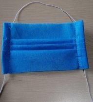 Mascarilla desechable Plisada en 1, 2 y 3 capas (Cubrebocas) en tela de grado médico, cosida, armada con liga latex