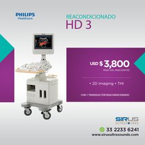 Ultrasonido PHILIPS HD 3 Equipo cardiovascular