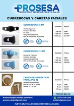 Cubrebocas 45 MT y Caretas Faciales