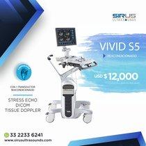 Ultrasonido GE Vivid S5   Equipo Médico cardiovascular
