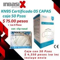 Cubrebocas Kn95 5 Capas de filtración