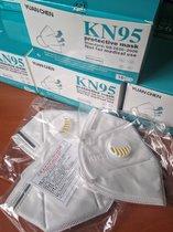 Mascarilla KN95 / 5 capas con válvula /  Venta al mayor / Precio al mayor $38 pesos x unidad
