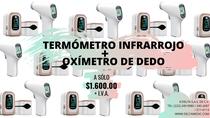 Paquete Oximetro  Dedo + Termometro Infrarrojo