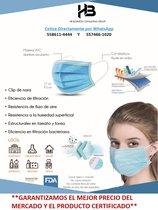 Cubrebocas Plisado, tricapa, termosellado con Cofepris y FDA << Mayoreo a $2.10 pesos >>