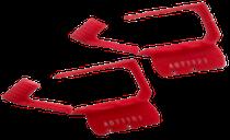 Candados Plasticos Desechables Rojos