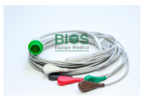 CABLE ECG MINDRAY GENERICO .T5 12 PIN 5-LEADS, SNAP, AHA