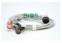 Cable ECG Nihon Kohden Generico 8 Pins, 5-Leads, Snap, AHA