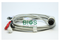 Cable ECG Universal Generico 6 Pins, 3-Leads, Snap, AHA