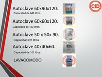 Autoclaves y lavacomodos