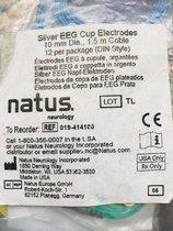 019-414100 Electrodos Copa De Plata Natus -  Paquete de 12 Piezas