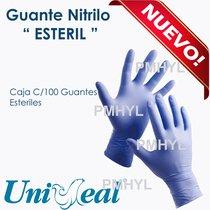 Guante Nitrilo Esteril Caja C/50 Pares
