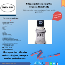 Ultrasonido Siemens Sequoia C512