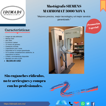 Mastógrafo Siemens Mammomat 3000 Nova