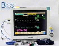 Monitor Multiparametros Philips MP70 Anestesia Reacondicionado, con módulo M3001A y módulo de gases anestésicos M1026B.