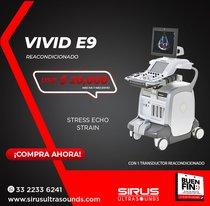 Oferta Ultrasonido Vivid e9, equipo cardiovascular re-acondicionado