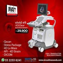 Oferta Buen Fin en Ultrasonido Vivid e9 con XD Clear, equipo cardiovascular re-acondicionado
