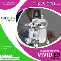 Oferta Ultrasonido Vivid e9 con XD Clear, equipo cardiovascular re-acondicionado