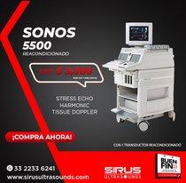 Ultrasonido PHILIPS Sonos 5500, equipo cardio vascular reacondicionado