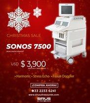 Ultrasonido PHILIPS Sonos 7500, equipo cardiovascular re-acondicionado
